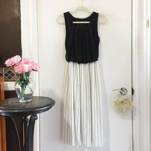 50% OFF Black and white pinstripe dress